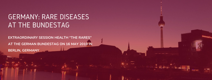 """Germany: Rare diseases at the Bundestag Extraordinary session HEALTH """"The Rares"""" at the German Bundestag on 16 May 2019 in Berlin, Germany"""